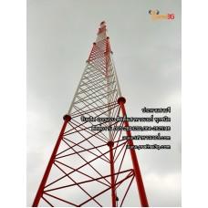 เสา Self Support  3 เหลี่ยม สำหรับงานล่อฟ้า แผงอากาศวิทยุสื่อสาร